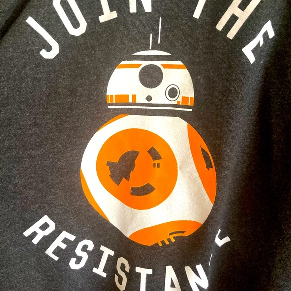 Star Wars Join The Resistance Hoodie Large Gray